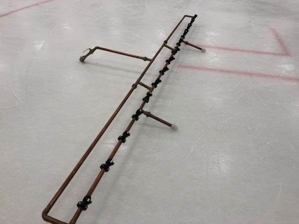 Spray Boom system on ice