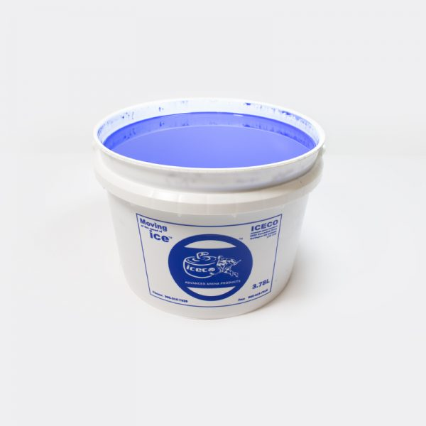 Blue paint for ice painting