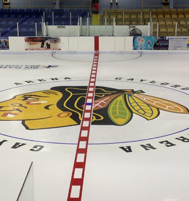 Black Hawks center ice logo